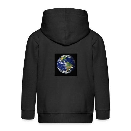 Wereld afdruk/print - Kinderen Premium jas met capuchon