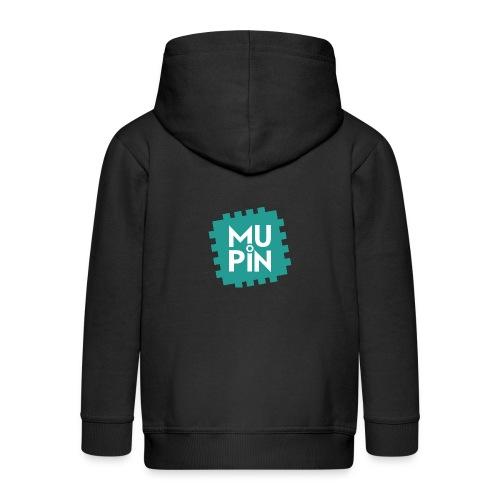 Logo Mupin quadrato - Felpa con zip Premium per bambini