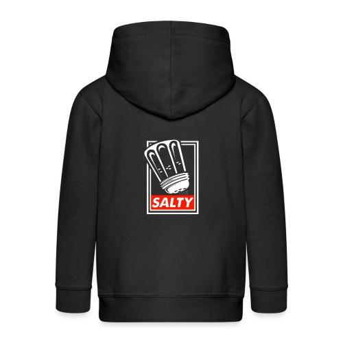 Salty white - Kids' Premium Zip Hoodie