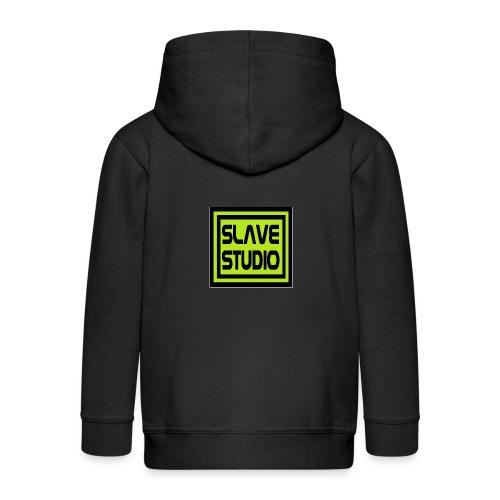 Slave Studio logo - Felpa con zip Premium per bambini