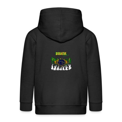 Brasil Soccer - Kids' Premium Hooded Jacket