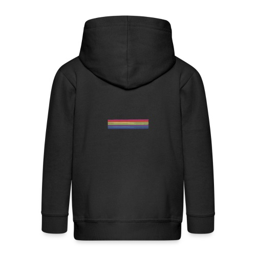 Colored lines - Kids' Premium Zip Hoodie