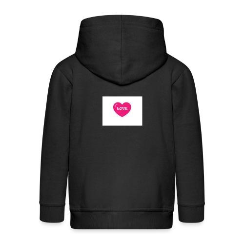 Spread shirt hjärta love - Premium-Luvjacka barn