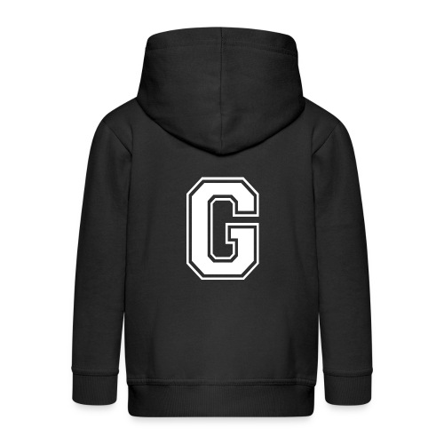 Grime Apparel G Grey Shirt. - Kids' Premium Zip Hoodie