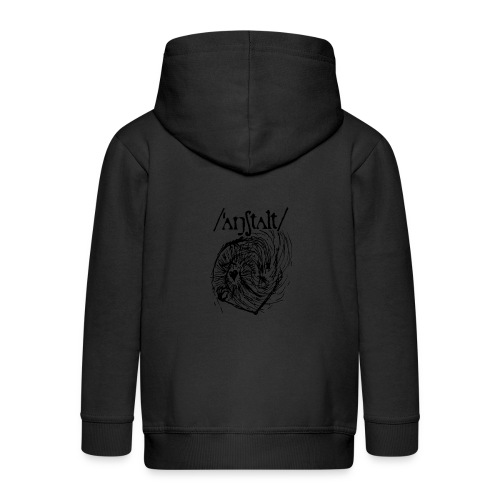 logo mit wesen (schwarz) - Kinder Premium Kapuzenjacke
