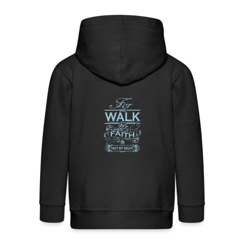 walk powder blue - Kids' Premium Zip Hoodie