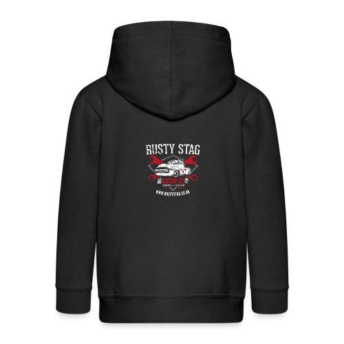 Motor Oil Tee - Kids' Premium Zip Hoodie