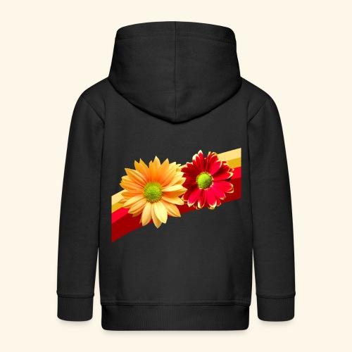 Blumen in den Farben rot und gelb, Blüten, floral - Kinder Premium Kapuzenjacke