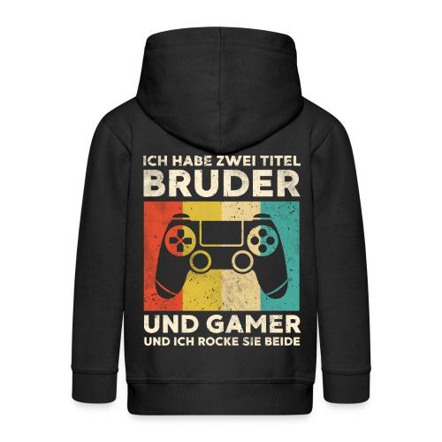 Bruder Gamer Gaming Junge Geschenk Sohn - Kinder Premium Kapuzenjacke