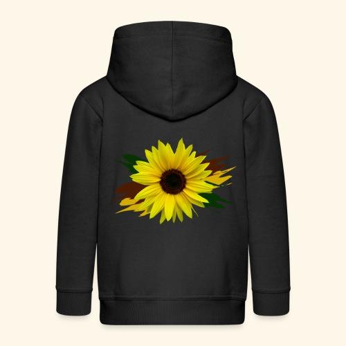 Sonnenblume, Sonnenblumen, Blume, floral, blumig - Kinder Premium Kapuzenjacke