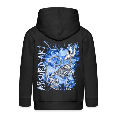 Knochentierchen Wolf von Absurd ART - Kinder Premium Kapuzenjacke