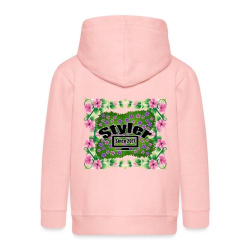 Styler Bloemen Design - Kinderen Premium jas met capuchon