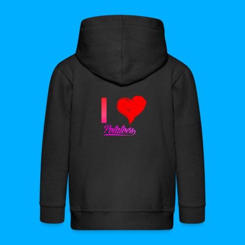 I Heart Potato T-Shirts - Kids' Premium Zip Hoodie
