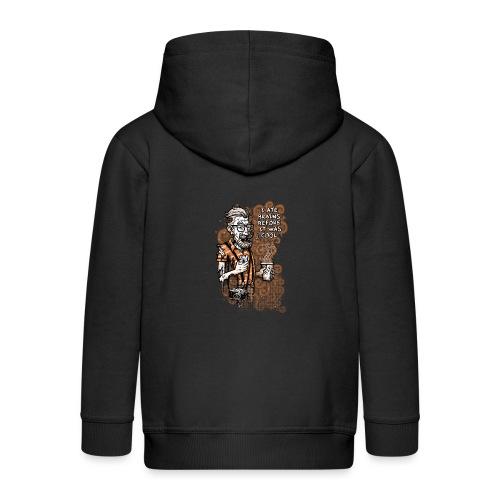 Zomb Hipster - Kids' Premium Zip Hoodie