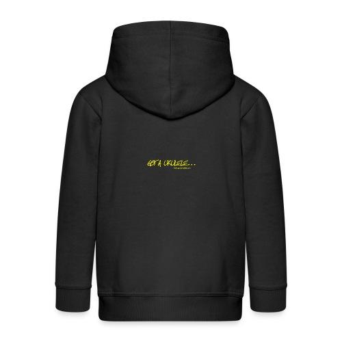 Official Got A Ukulele website t shirt design - Kids' Premium Zip Hoodie