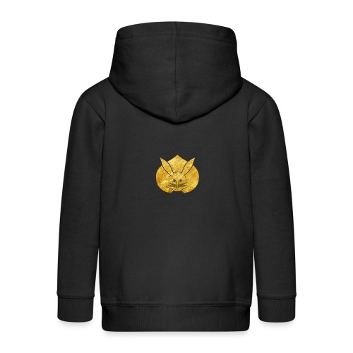 Usagi kamon japanese rabbit gold - Kids' Premium Zip Hoodie