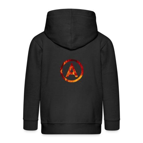 Fire T-shirt - Rozpinana bluza dziecięca z kapturem Premium