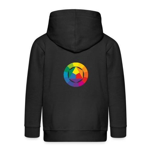 Farbkreis - Kinder Premium Kapuzenjacke