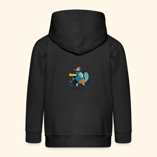 Tartaruga e uccellino - Felpa con zip Premium per bambini