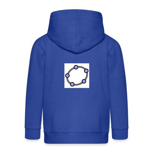GeoGebra Ellipse - Kids' Premium Zip Hoodie