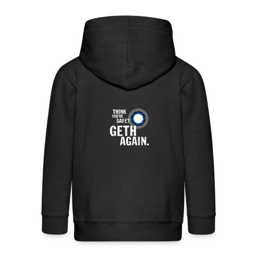 Geth Again Design - Kids' Premium Zip Hoodie