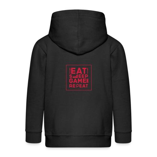 Eat, Sleep, Game, Repeat. - Kids' Premium Zip Hoodie