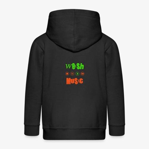 Welsh Music - Kids' Premium Zip Hoodie