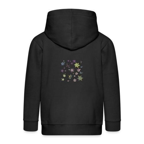 flowers and butterflies - Felpa con zip Premium per bambini
