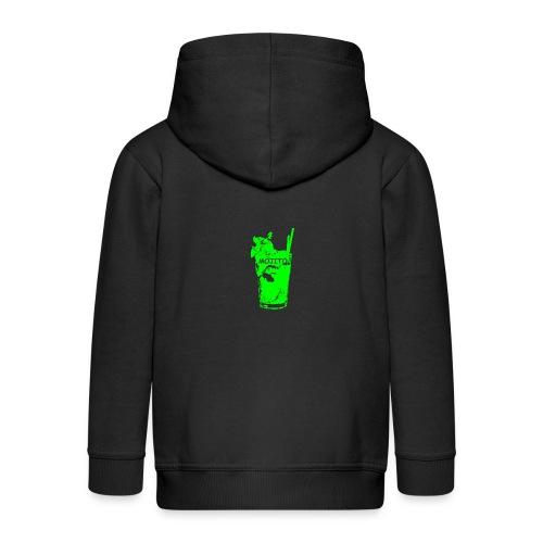 zz_ultima_verde_moji_5_900x900_nuovo_rit - Felpa con zip Premium per bambini