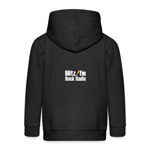 BLITZ FM TSHIRT Schwarz - Kinder Premium Kapuzenjacke