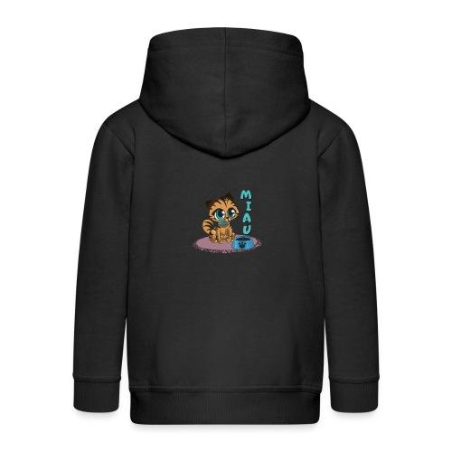 Miau - Kinder Premium Kapuzenjacke