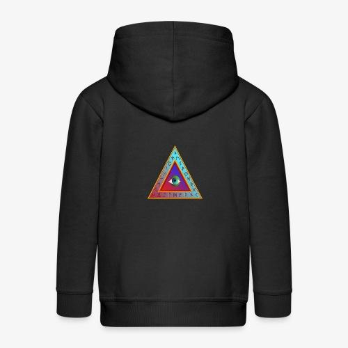 Dreieck - Kinder Premium Kapuzenjacke