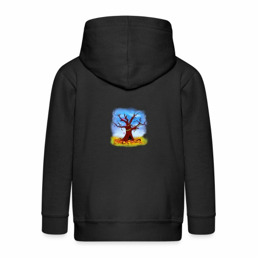 Tree spirits - Rozpinana bluza dziecięca z kapturem Premium