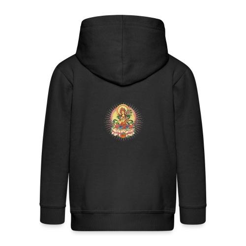 Tara Tibet Buddhismus Lotus Meditation Yoga - Kinder Premium Kapuzenjacke
