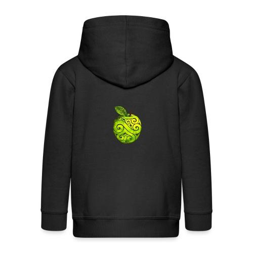 Swirly Apple - Kinder Premium Kapuzenjacke