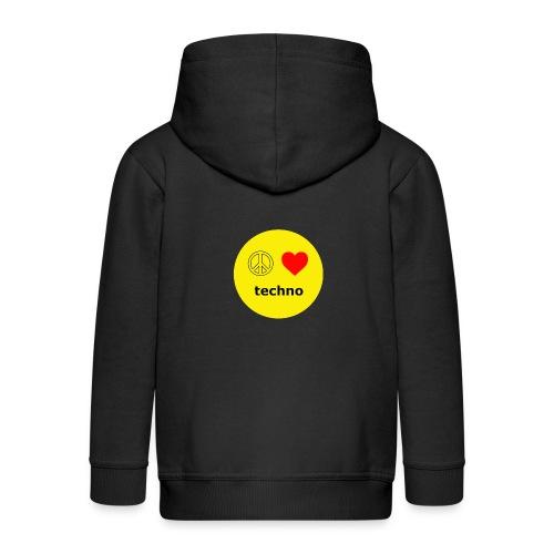 paz amor techno - Chaqueta con capucha premium niño