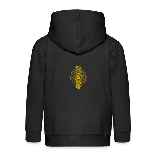 Metatron's Gold Geometric Dimension - Kids' Premium Zip Hoodie