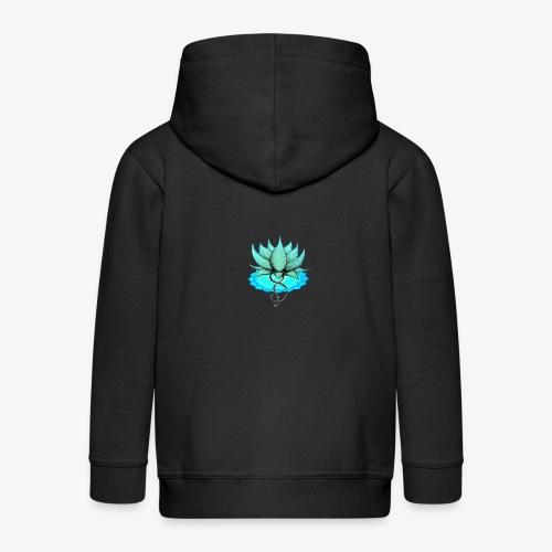 Lotus bleu chakra - Veste à capuche Premium Enfant