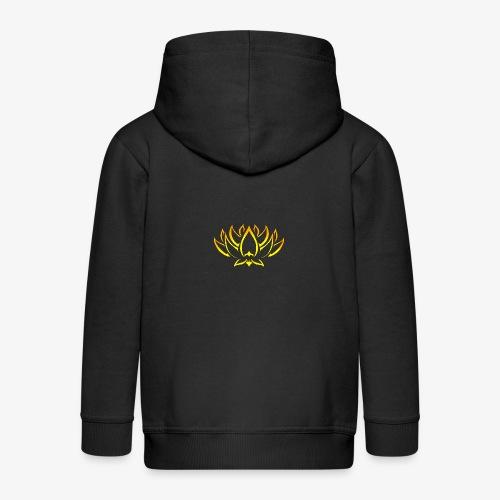 Lotus tribal Or - Veste à capuche Premium Enfant
