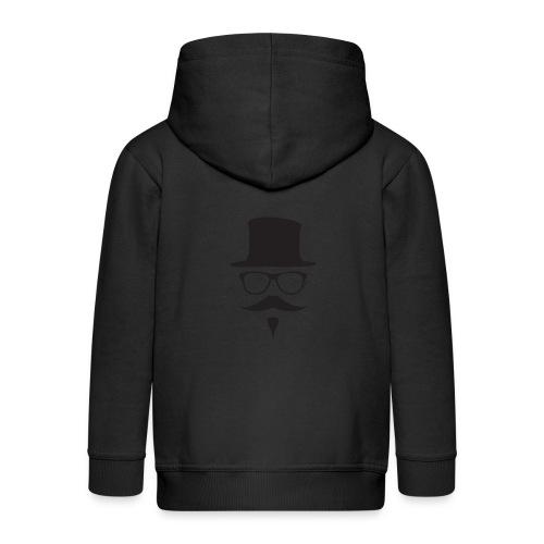 Moustachu Black (H) - Veste à capuche Premium Enfant