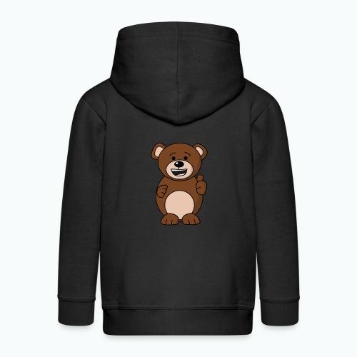 Bruno Bear Happy - Appelsin - Premium-Luvjacka barn