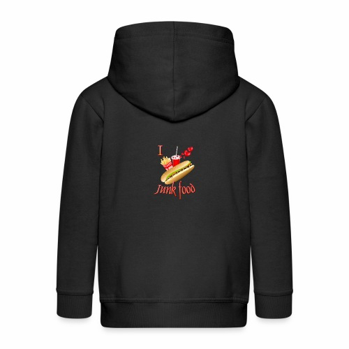 I love Junk food - Kids' Premium Zip Hoodie