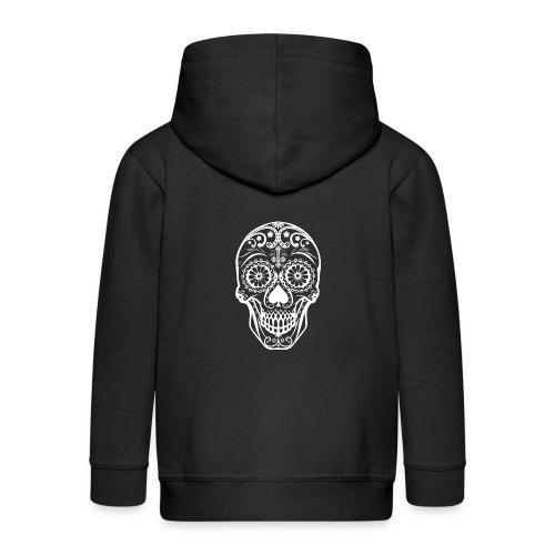 Skull white - Kinder Premium Kapuzenjacke