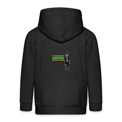 conspiracy theory - Kids' Premium Zip Hoodie