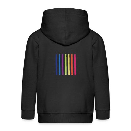 Lines - Kids' Premium Zip Hoodie