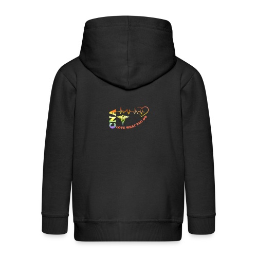 Cna Love What You Do - Kids' Premium Zip Hoodie