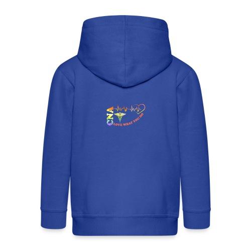 Cna Love What You Do - Kids' Premium Zip Hoodie