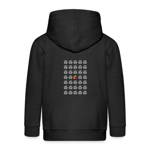 grid semantic web - Kids' Premium Zip Hoodie