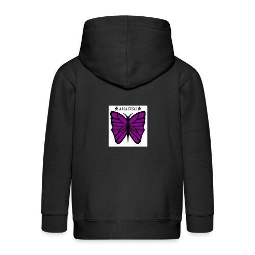 Motiv fjäril, Butterfly amazing - Premium-Luvjacka barn