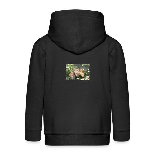 konijnen afdruk/print - Kinderen Premium jas met capuchon